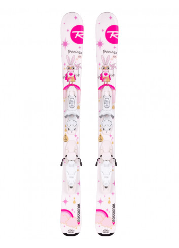Narty juniorskie ROSSIGNOL Princess Kid + Look KID-X 4