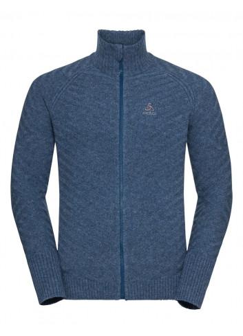 Męska bluza termoaktywna z zamkiem 100% MERINO ODLO UNITY KINSHIP X-WARM